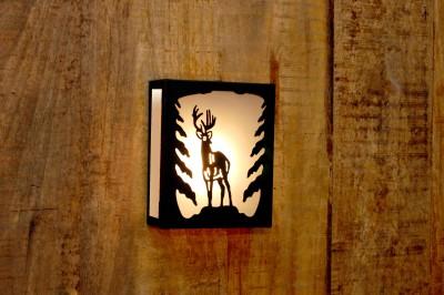 Logam Northwoods Deer Metal Cut Night Lamp