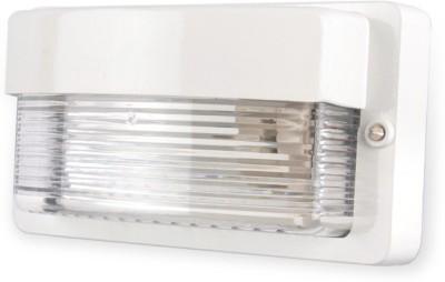 Fos Lighting Maxi Cast Aluminium White Outdoor Bulkhead Light Night Lamp