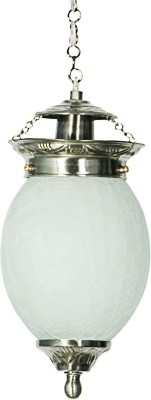 Fos Lighting Chandni Crackle Oval Small Hanging Light Night Lamp