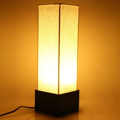 Hashcart Colorful Wood - Green Color for Home Decor / Gift Table Lamp