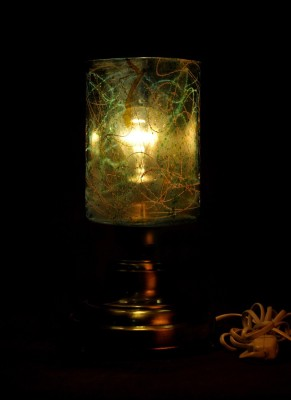 Gojeeva Antique Mosaic Work Decorative 10 Table Lamp