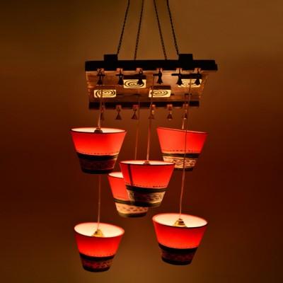 ExclusiveLane Wooden Hanging Night Lamp