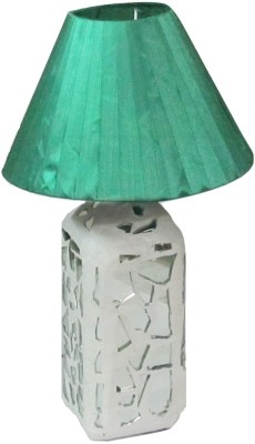 Aadhya Creations Rs Mosiac With Green Shade Table Lamp