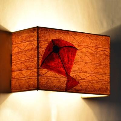 ExclusiveLane Canvas Handpainted Rectangular KITE Night Lamp