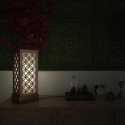 DecorNation Japanese Circle Pattern Table Lamp