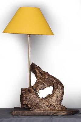 Malji's Driftwood Art Golden curve Table Lamp