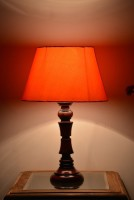 Yashasvi Decor Table Lamp(40.64 cm, Orange)