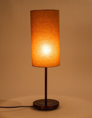 Orange Tree Rati Copper PC with Mocha cotton Shade Table Lamp