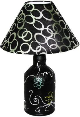 Aadhya Creations Vintage WSKY Flowers Black & Grey Table Lamp