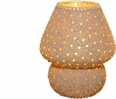 Gojeeva White Dall Sarso Bindi Table Lamp(23 cm, White)