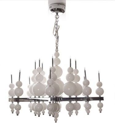 Adithya Lamps Coop Metal & Glass Chandelier Night Lamp
