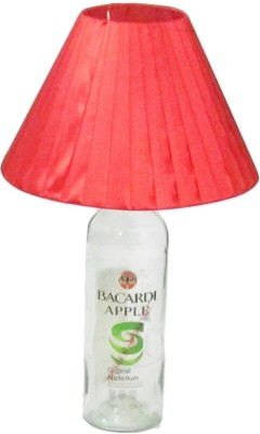 Aadhya Creations Bac Apple With Red Shade Table Lamp