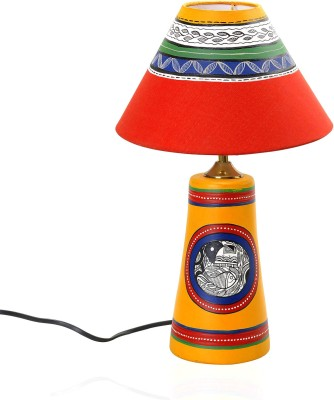 Aapno Rajasthan Handcrafted Terracotta With Tribal Art Motifs Table Lamp