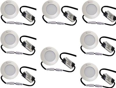 EPSORI 4Watt 6500k White Round Indoor Cosiva Led Down Light Set of 8 Night Lamp