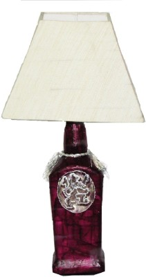 Aadhya Creations RC Purple Lion Off White Square Table Lamp