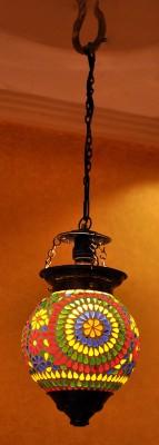 Lal Haveli Vintage Moroccan Style Mosaic Art Glass Night Lamp