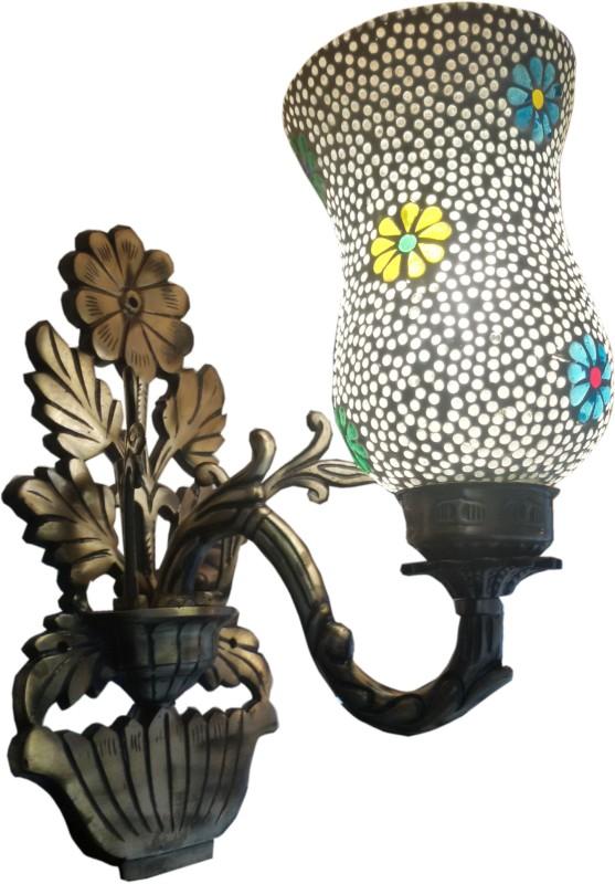 Weldecor Antiqua Brasso Polka Star Night Lamp(30 cm, Multicolor)
