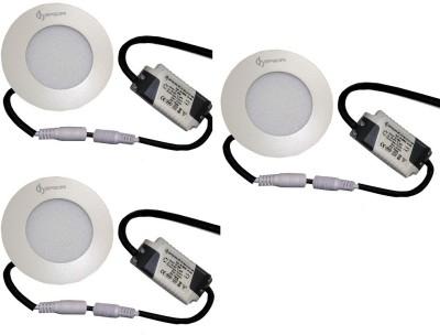 EPSORI 4Watt 6500k White Round Indoor Cosiva Led Down Light Set of 3 Night Lamp