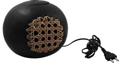Zoiks Indian Kalakari Manipur Stone Pottery Ball Table Lamp