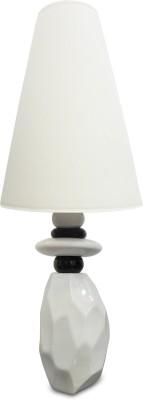 Calmistry Long White Ceramic Table Lamp