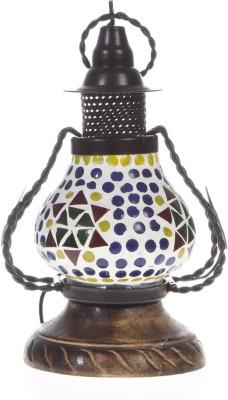 Smile2u Retailers Rajasthani Wood And Iron Hanging Table Lamp