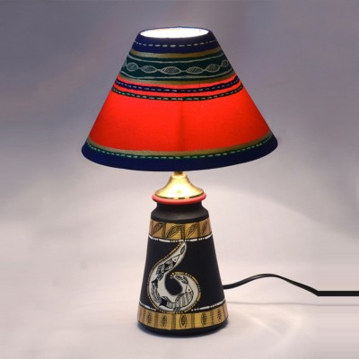 ExclusiveLane 14 Inch Madhubani Handpainted Tapered Table Lamp