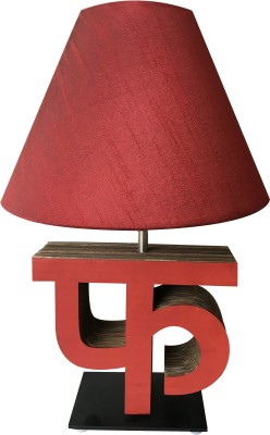 Sylvn studio Fascinating FA letter lamp Maroon Table Lamp