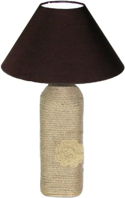 Aadhya Creations BL Solid Brown Table Lamp