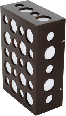 WhiteRay Wooden Square Circle Cut Design Brown Night Lamp