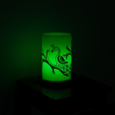 eCraftIndia Bird Painted Table Lamp