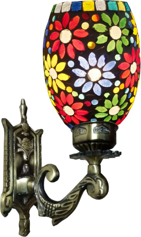 Weldecor Antiqua Brasso Floral Era Night Lamp(30 cm, Multicolor)