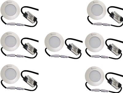 EPSORI 4Watt 6500k White Round Indoor Cosiva Led Down Light Set of 7 Night Lamp