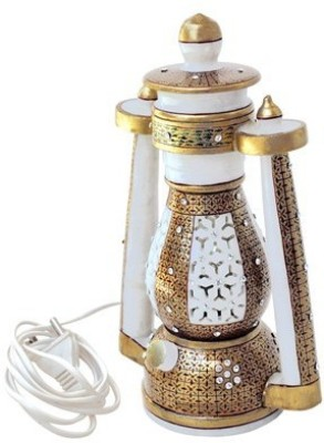 Handicrafts Paradise Cut Work Golden Work Lantern Table Lamp