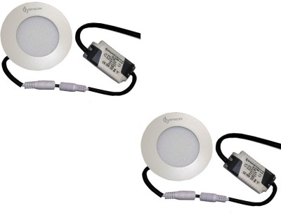 EPSORI 4Watt 6500k White Round Indoor Cosiva Led Down Light Set of 2 Night Lamp
