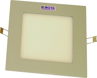 Renota Led Lightings Panel Light 12w Square Shape With Gray Frame Night Lamp
