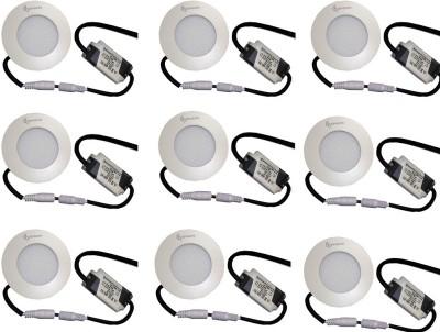 EPSORI 4Watt 6500k White Round Indoor Cosiva Led Down Light Set of 9 Night Lamp