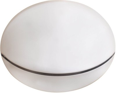 Adithya Lamps Coop White Round Warm Flush Mounted Ceiling Light Night Lamp