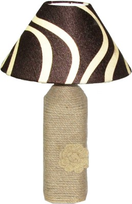 Aadhya Creations BL Striped Brown Magic Table Lamp