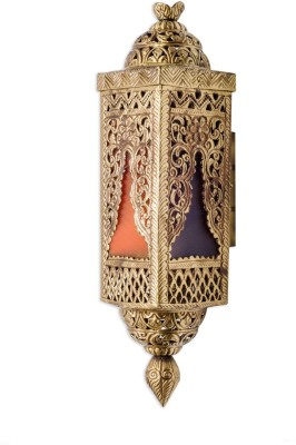 Fos Lighting Handcrafted Brass and Colored Glass Night Lamp