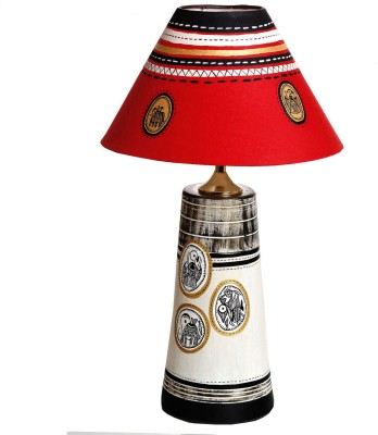 Aapno Rajasthan An Elegant Hand Painted In Terracotta Table Lamp