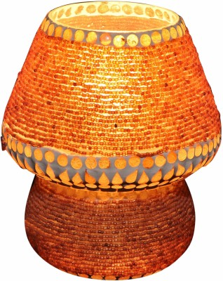 Gojeeva Brown Potta Small Table Lamp(16 cm, Brown)