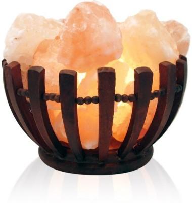 Starstell Wooden Basket Himalayan Rock Salt Table Lamp