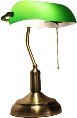 Gojeeva Dark Green Table Lamp(40 cm, Green)