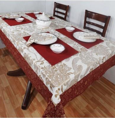 Heritagefabs White Organic Cotton Table Linen Set