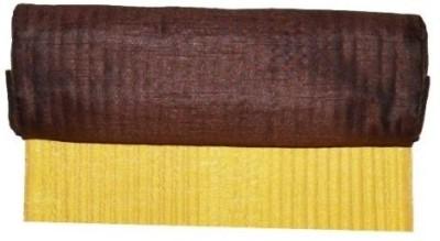 meSleep Yellow, Brown Silk Table Linen Set(Pack of 2)