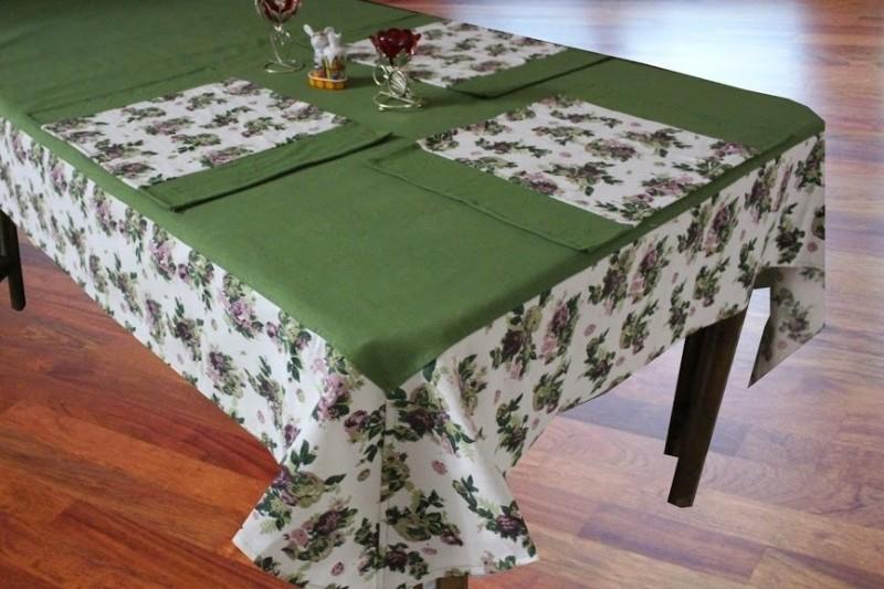 Dekor World Green Organic Cotton Table Linen Set(Pack of 5)