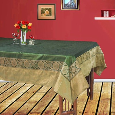 Dekor World Green, Gold Polyester Table Linen Set