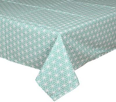 CPM HANDLOOM White, Light Green Table Linen Set