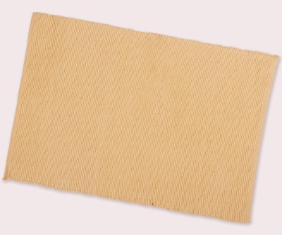 Dhrohar Rectangular Pack of 2 Table Placemat(Beige, Cotton)