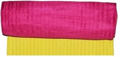 meSleep Yellow, Pink Silk Table Linen Set(Pack of 2)